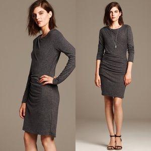 Banana Republic Sheath Dress Gray Size M Ruched